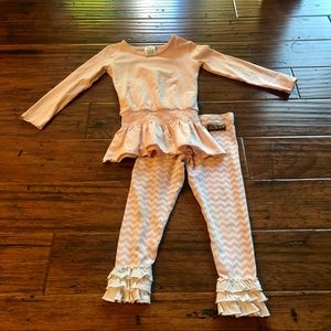 Pink Chevron Matilda Jane Outfit
